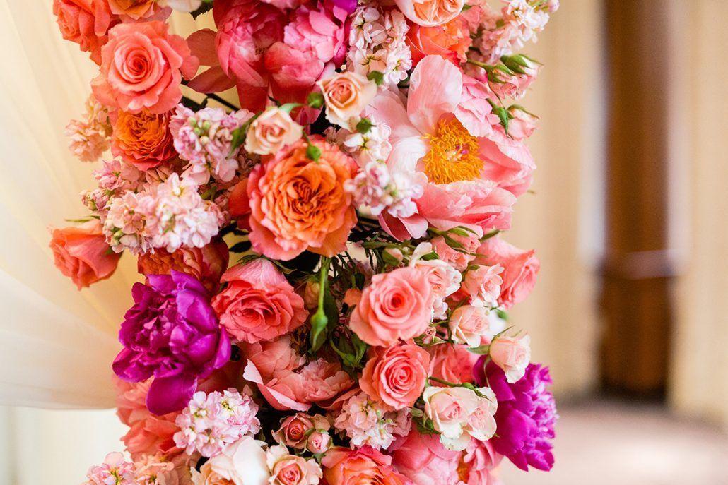 Jacqueline & Gary - Chuppah Details - Peony Rose - Trump Soho - Casey Fatchett Photography