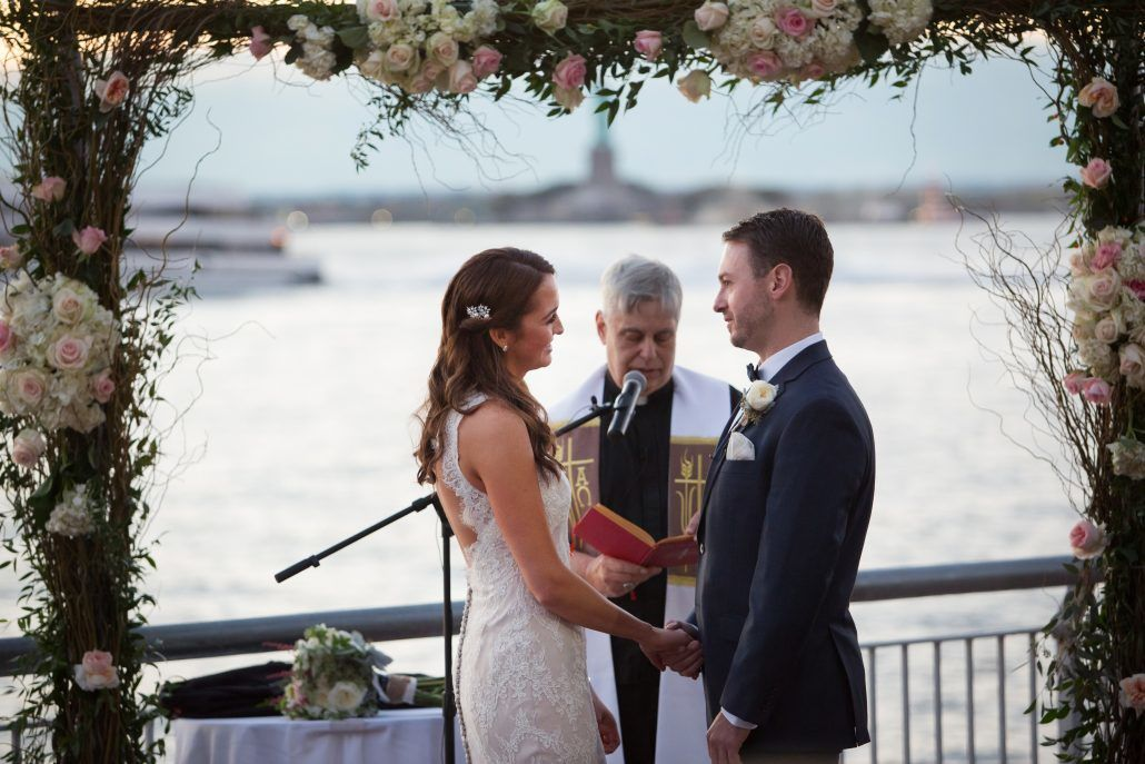 Jennifer & Paul Wedding - Ceremony - Branch Arch - Liberty Warehouse NYC - by Agaton Strom