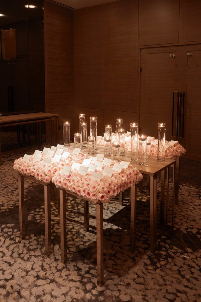 Lauren and Matthew Wedding - Card Table - Titanic Rose Blanket - Park Hyatt NYC - Photography by Christian Oth Studio