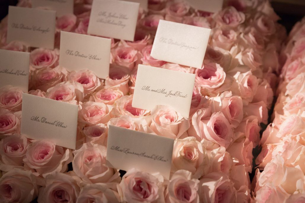 Lauren and Matthew Wedding - Card Table - Titanic Rose Blanket - Detail - Park Hyatt NYC - Photography by Christian Oth Studio