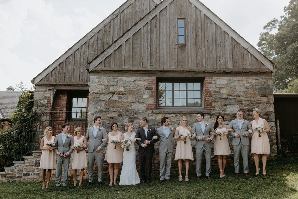 Stephanie & Mike Wedding - Bridal and Groom Party - Blue Hill at Stone Barns - Photography by Golden Hour Studio