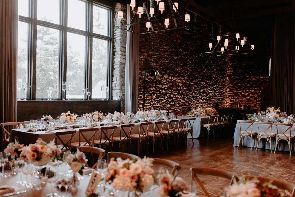 Stephanie & Mike Wedding - Low Tables - Reception - Blue Hill at Stone Barns - Photography by Golden Hour Studio