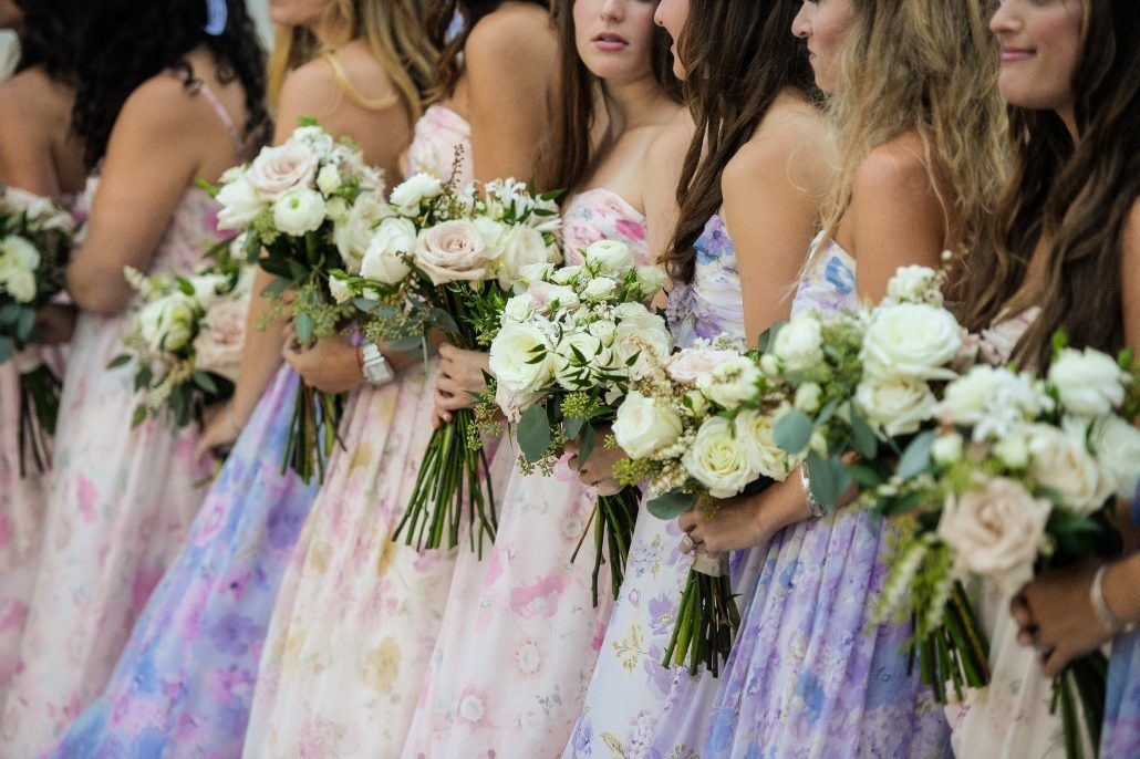 Becca and Dave Wedding - Brideghampton Tennis & Surf Club - Bridesmaids - Bouquets - photography by Andre Maier