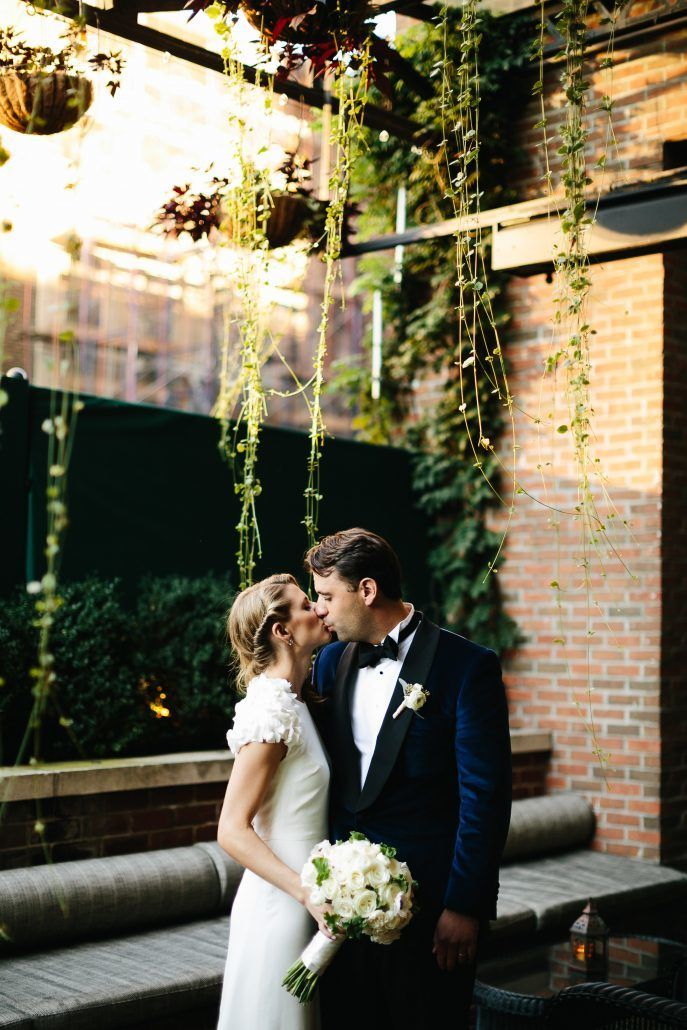 Courtney and Quinton Wedding - Bride and Groom - The Bowery Hotel NYC - Photography by Chad Cruz