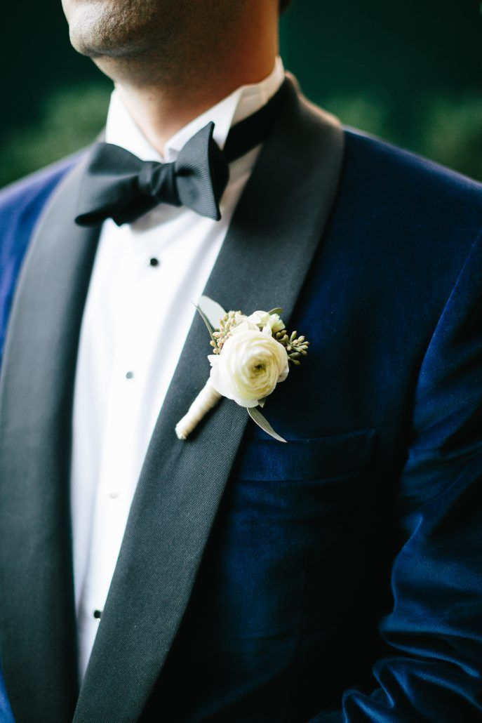 Courtney and Quinton - Groom -Boutonniere - The Bowery Hotel - Photography by Chad Cruz