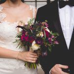 Rachel and Olly Wedding - Anemone Blackberry Seeded Euc Lambs Ear Calla Lily Ranunculus Rose Garden Rose Scabiosa Bouquet - Manhattan Penthouse NYC - by Dreamlife Photography