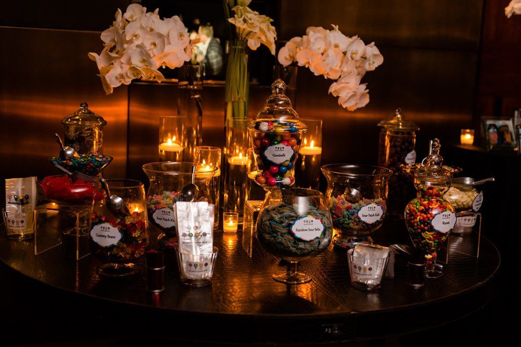 Jacqueline & Gary Wedding - Dylans Candy Bar Table - Trump Soho NYC - Photography by Casey Fatchett