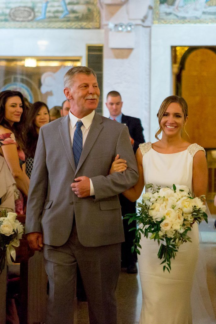 Aerin and Steven Wedding - Bride and Father - Holy Trinity Cathedral - Photography by Susan Shek