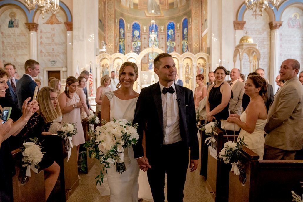 Aerin and Steven Wedding - Bride and Groom - Holy Trinity Cathedral Manhattan - Susan Shek Photography