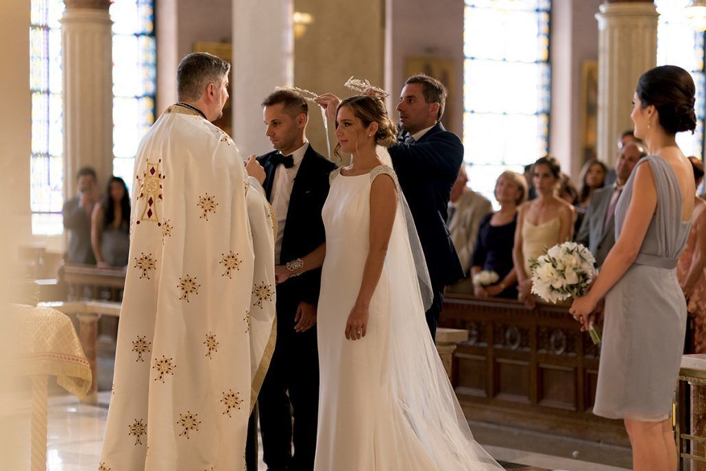 Aerin and Steven Wedding - Bride and Groom Ceremony - Holy Trinity Cathedral Manhattan - Susan Shek Photography