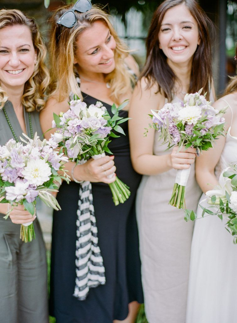 Emma and Izzet Wedding - Bridesmaids Bouquets - Blue Hill at Stone Barns NY - By Rebecca Yale
