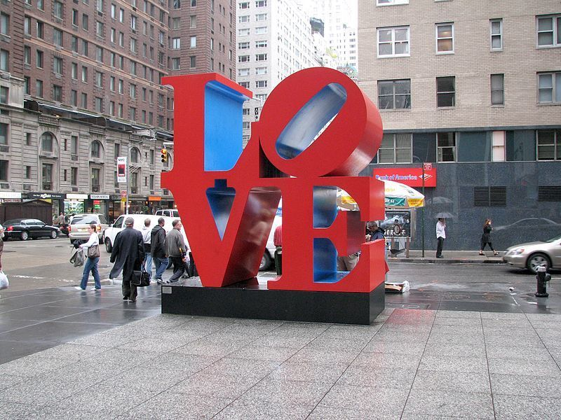 LOVE - Robert Indiana - via wikipedia.org
