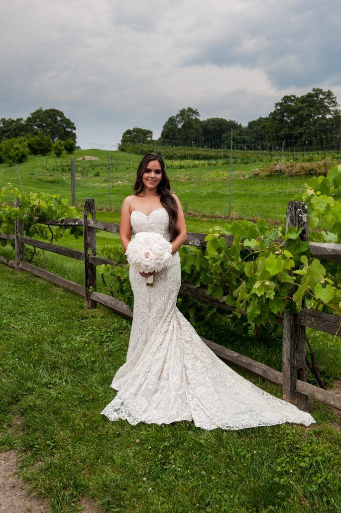 Lauren and Jordan Wedding - Bride with Peony Bridal Bouquet - Blue Hill at Stone Barns NY - Photography by Craig Paulson