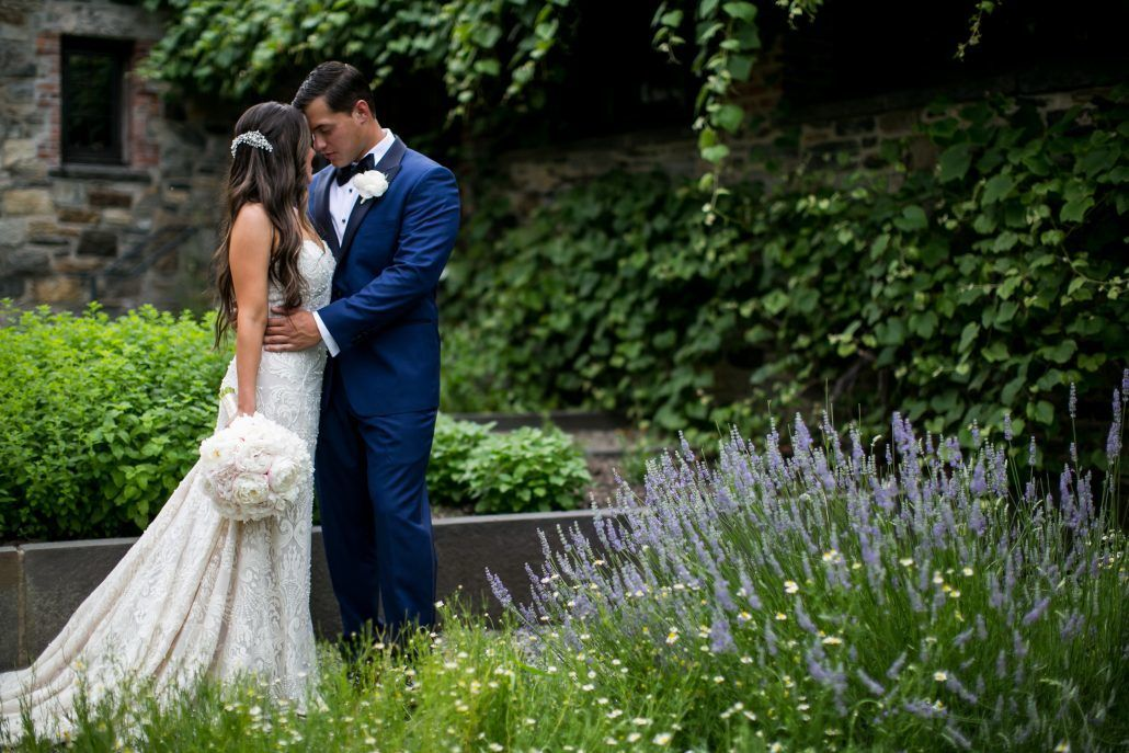 Lauren and Jordan Wedding - Peony Bridal Bouquet and Boutonniere - Blue Hill at Stone Barns NY - Photography by Craig Paulson