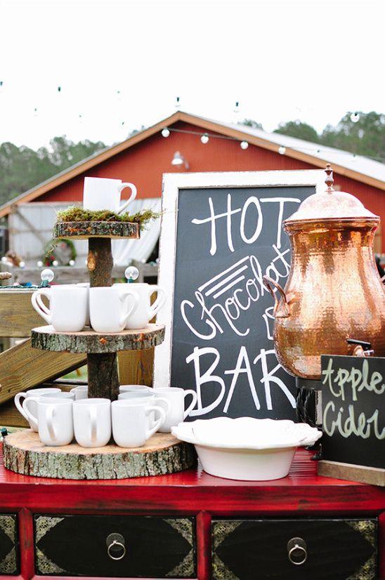 Hot Chocolate Bar - via weddingchicks.com