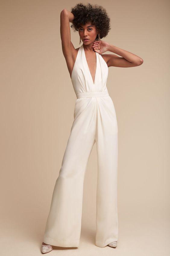 Bridal Jumpsuit by Jill Jill Stuart - via bhldn.com