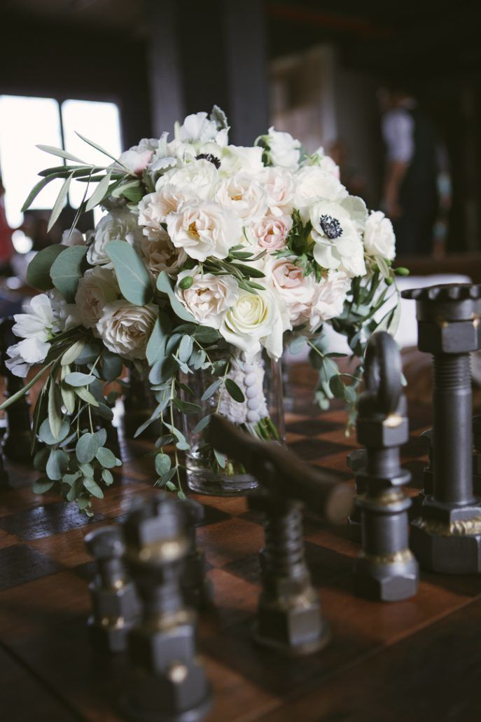 Christina & Derek Wedding - Bridal Bouquet - The Foundry LIC - Kevin Markland Photography