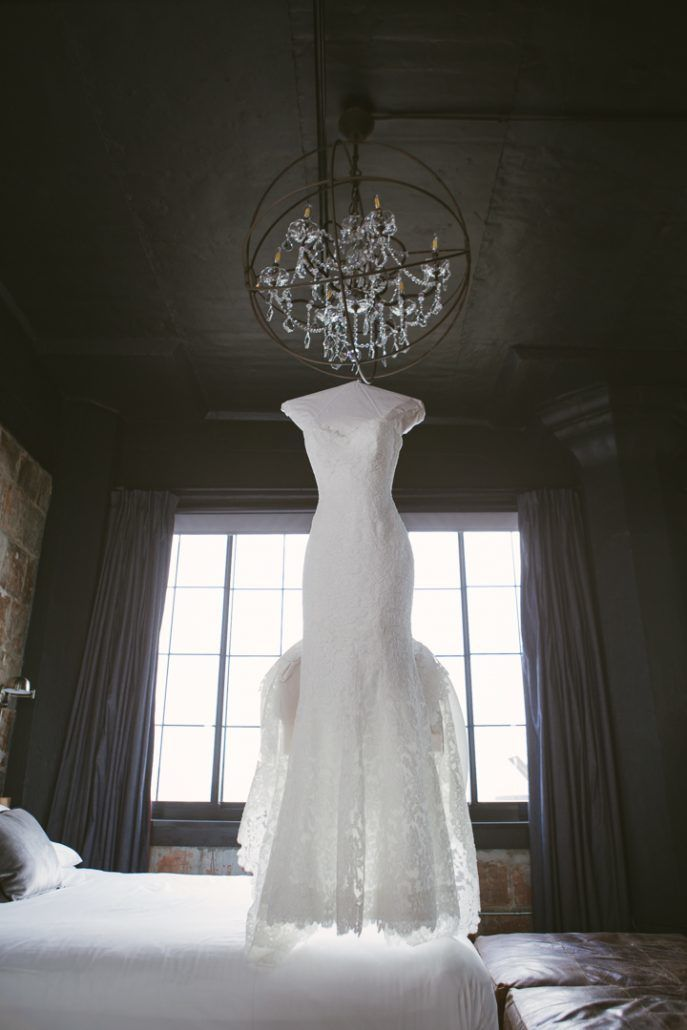 Christina & Derek Wedding - Bridal Gown by Romona Keveza - The Foundry LIC - Kevin Markland Photography