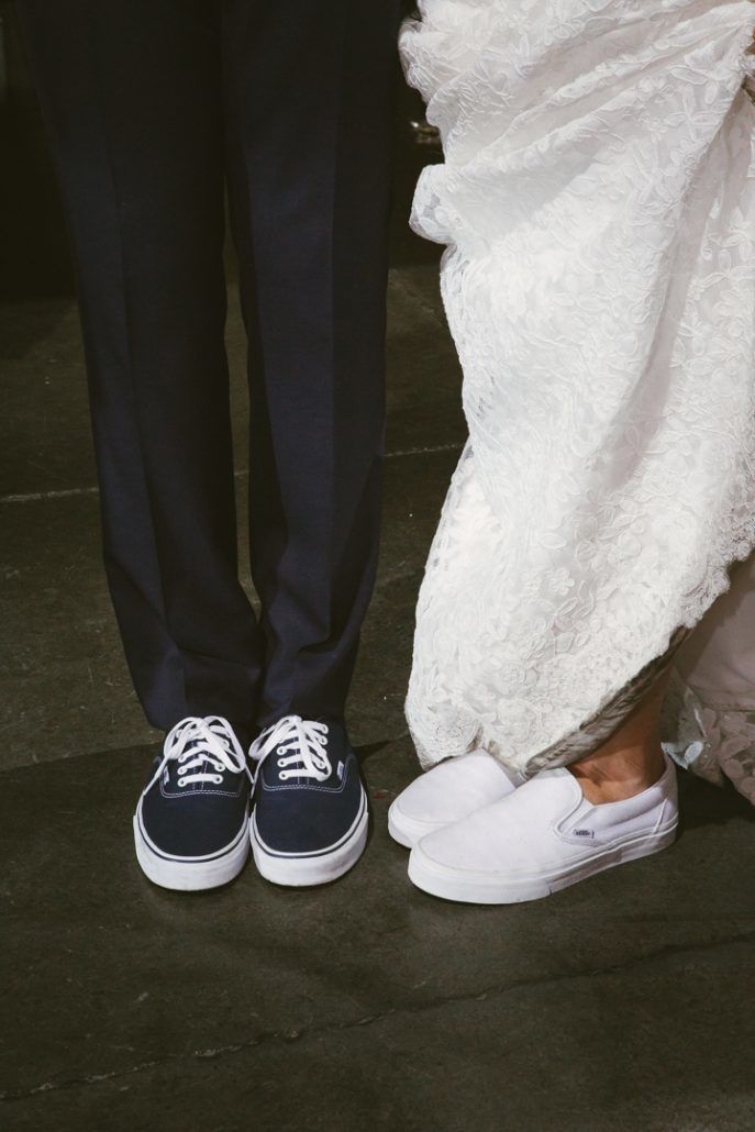 Christina & Derek Wedding - Bride and Groom Vans - The Foundry LIC - Kevin Markland Photography