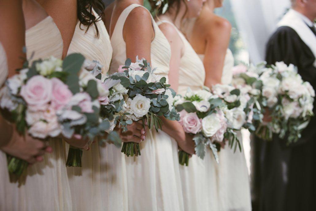 Christina & Derek Wedding - Bridesmaids Bouquets - The Foundry LIC - Kevin Markland Photography