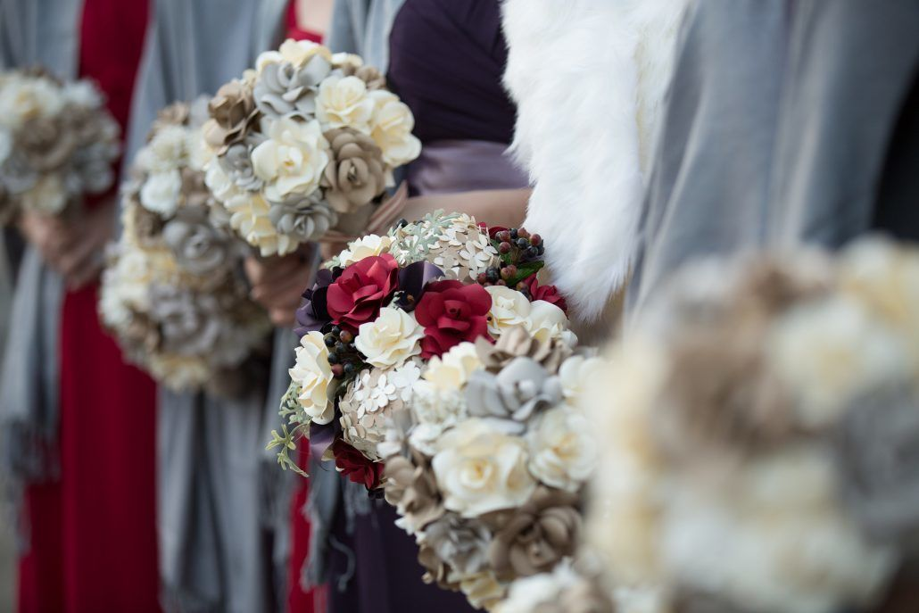 Bride and Bridesmaids' Bouquets from Katie's Wedding - via katherineelizabethevents.com
