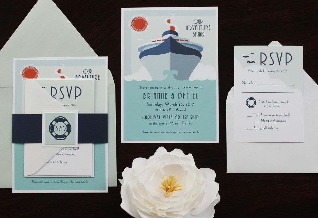 Custom Wedding Invitation - via katherineelizabethevents.com