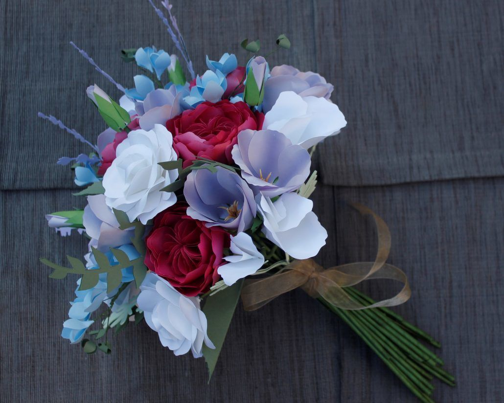 Paper Flower Bridal Bouquet - via katherineelizabethevents.com