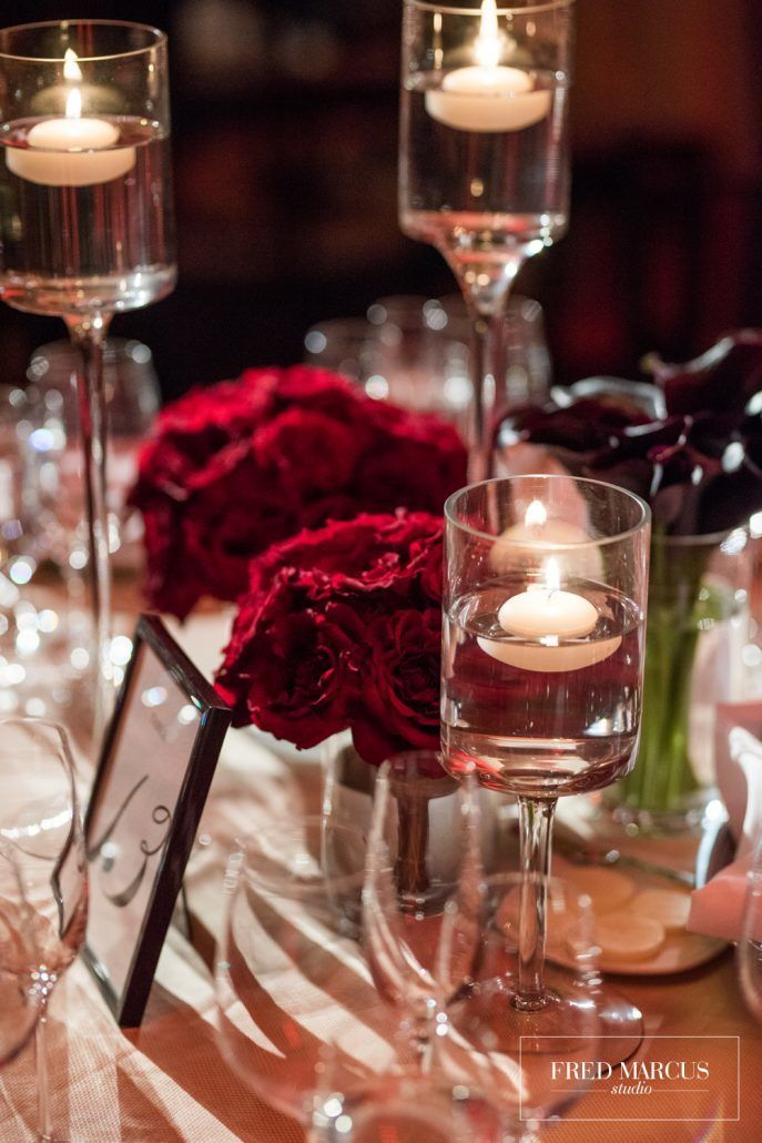 Marianna and Peter Wedding - Low Centerpiece - Mandarin Oriental New York - by Fred Marcus Studio
