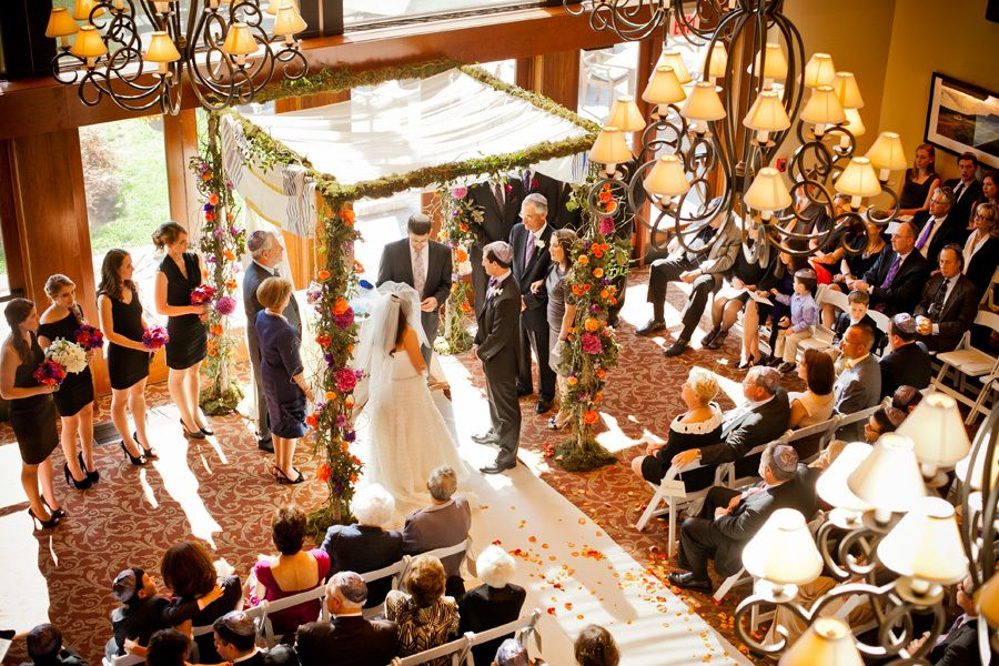 Fall Wedding Chuppah - via robertsonsweddings.com