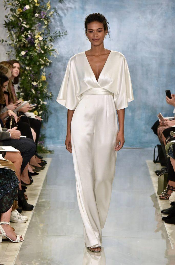 Bridal Jumpsuit by Theia - via brides.com
