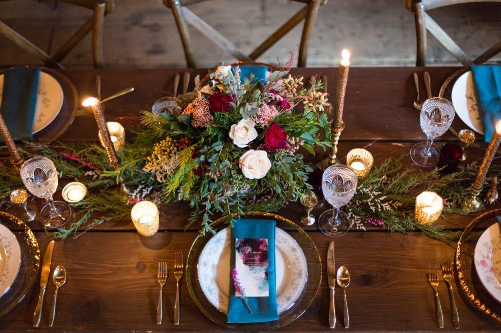 Elegant Fall Table Setting - via andrealeslieweddings.com