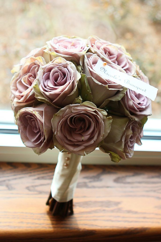 Amnesia Rose Hand-Tied Bouquet - via springwellgardens.blogspot