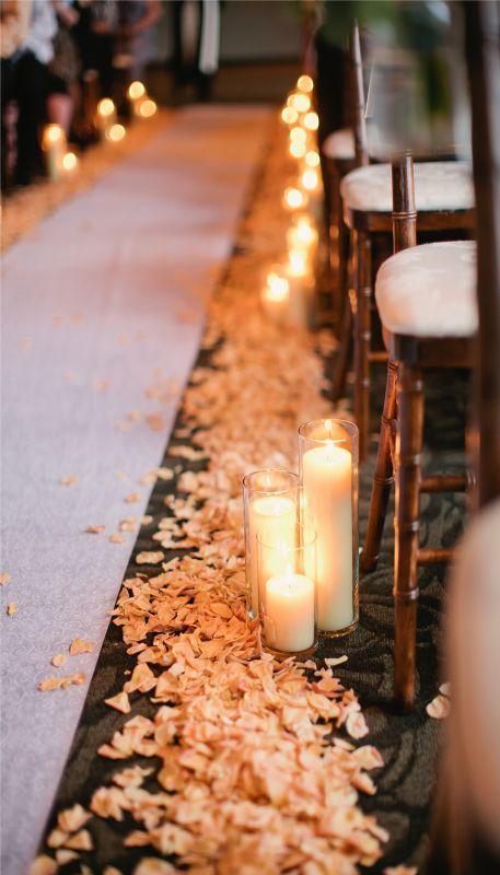 Candlelit Aisle - via weddingbee.com