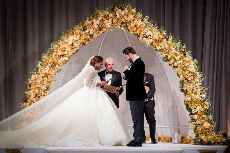 Serena Williams and Alexis Oharian - wedding - via brides.com