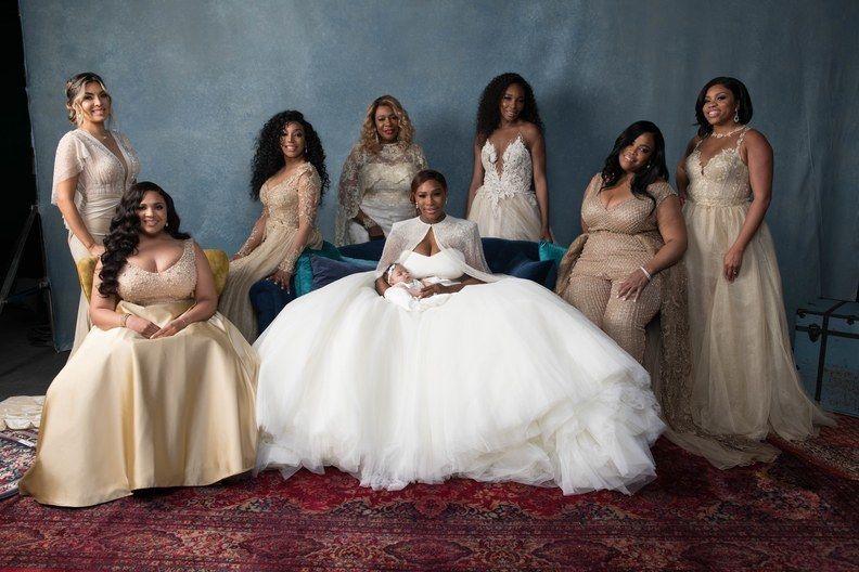 Serena Williams Wedding - Bridal Party - via brides.com