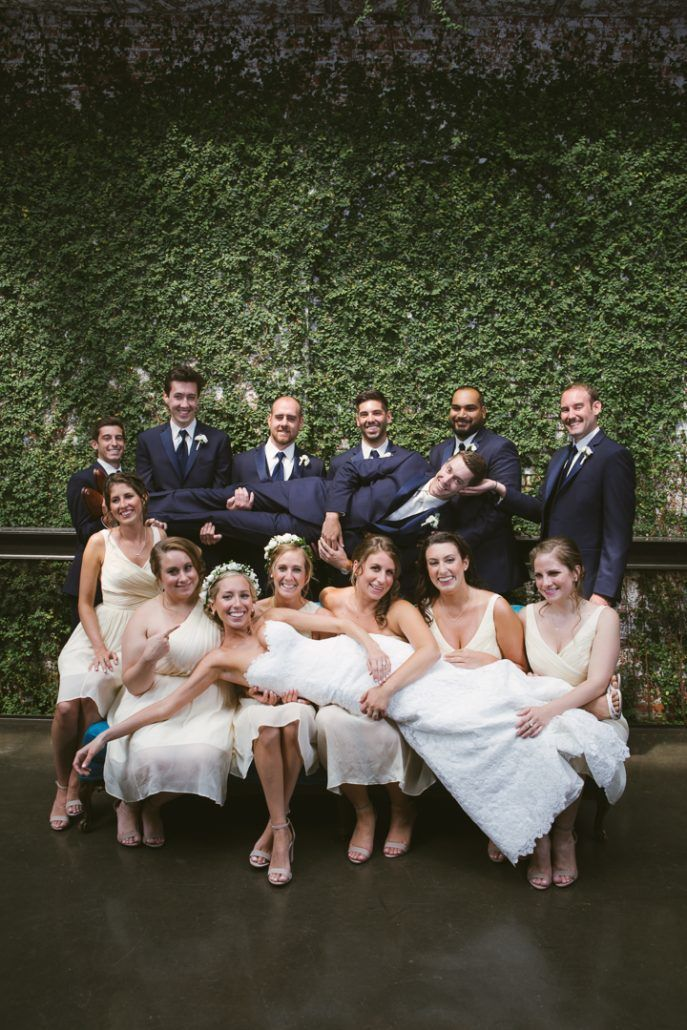 Christina & Derek Wedding - Wedding Party - The Foundry LIC - Kevin Markland Photography
