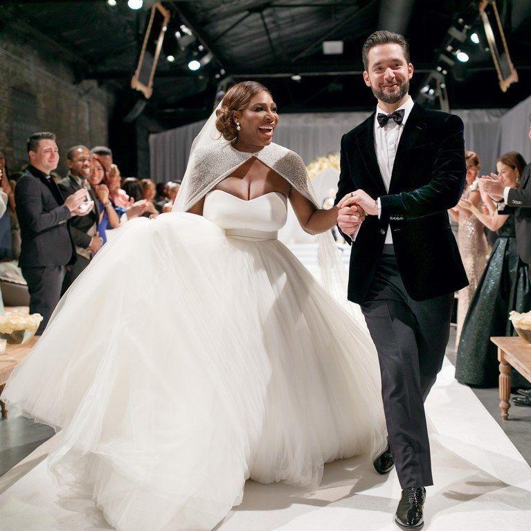 Serena Williams and Alexis Ohanian - Wedding - via brides.com