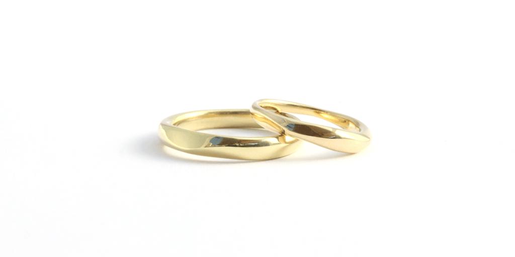 Men & Women's Pebble Band - 18k yellow gold - via fitzgeraldjewelry.com