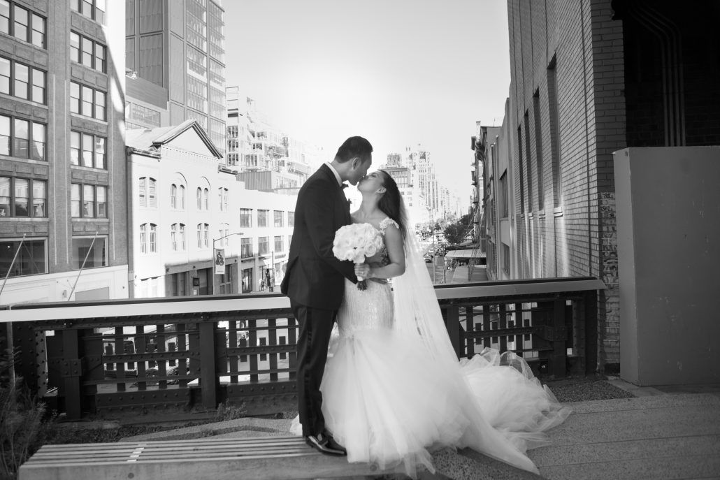 Sophia & Sam Wedding - Bride and Groom - Tribeca 360 NYC - by Shira Weinberger