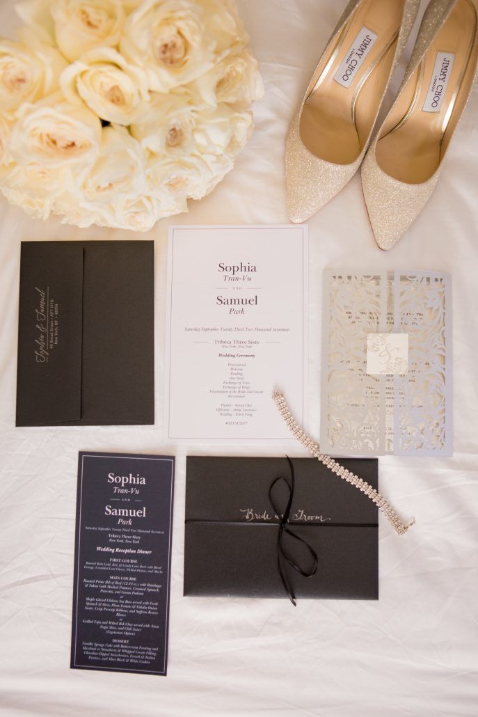 Sophia & Sam Wedding - Wedding Invitation Suite - Tribeca 360 NYC - by Shira Weinberger
