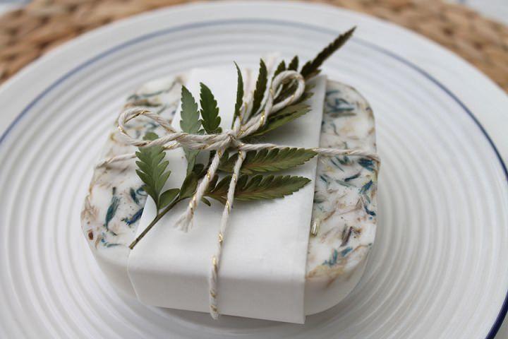 DIY Wedding Favor - Herbal Soap - via boho-wedding.com