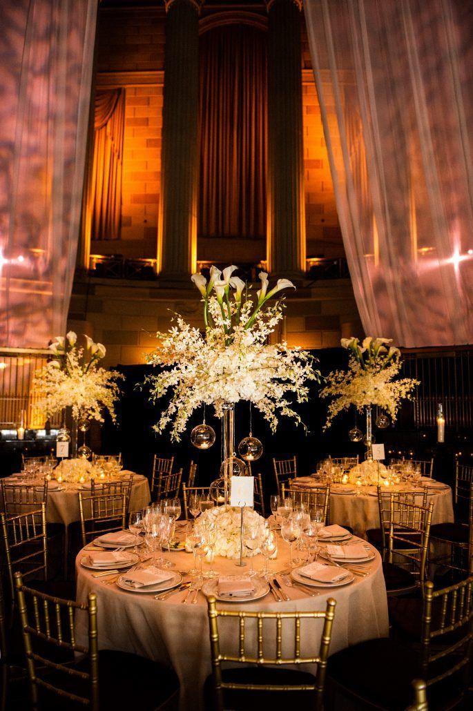 Sunita & Darren - High Centerpiece - Gotham Hall - Photography by Kirra Cheers Weddings