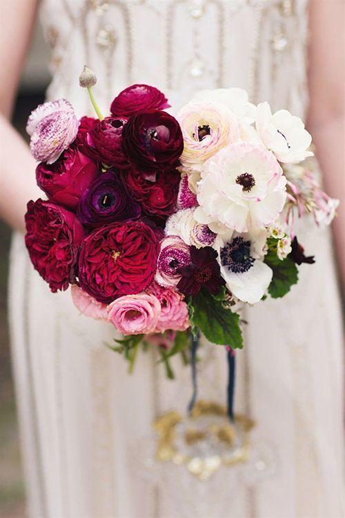 Ranunculus Wedding Bouquet - via stylemepretty.com