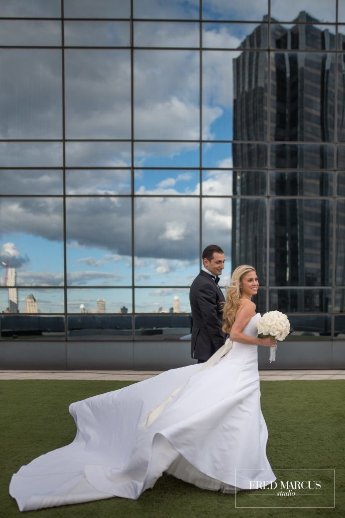 Marianna & Peter Wedding - Bride & Groom - Bouquet - Mandarin Oriental New York - Fred Marcus Studio