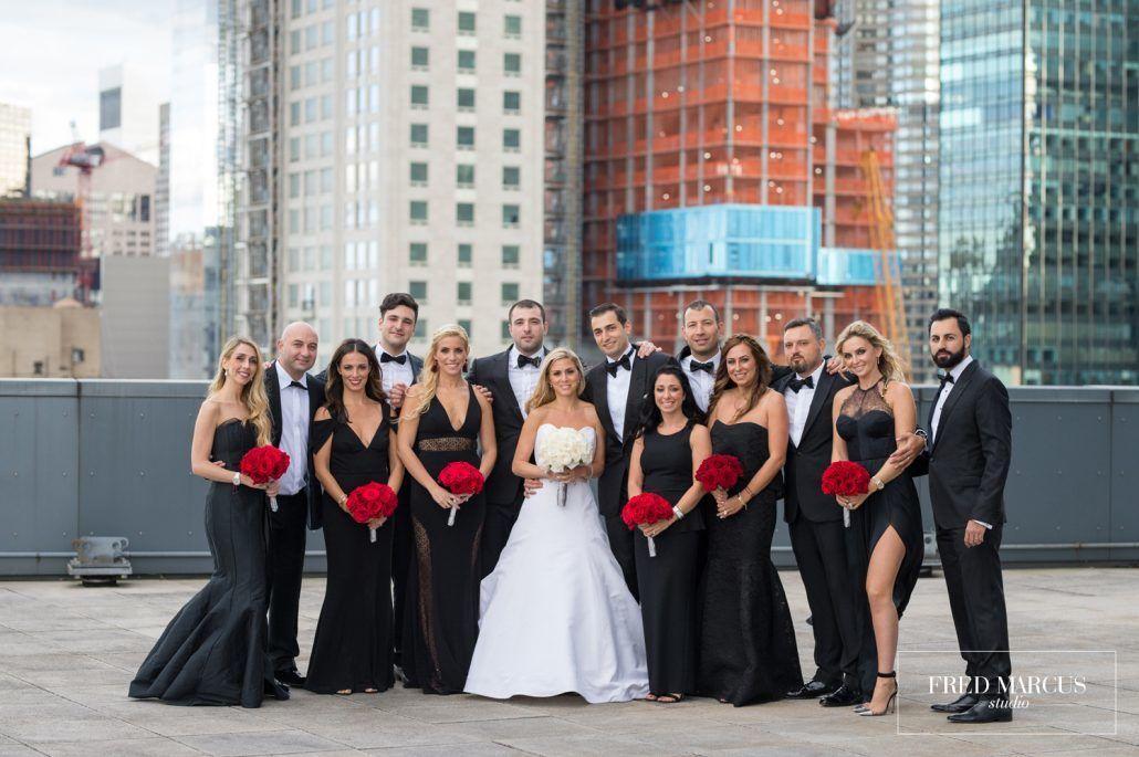 Marianna & Peter Wedding - Bride & Groom - Wedding Party - Mandarin Oriental New York - Fred Marcus Studio