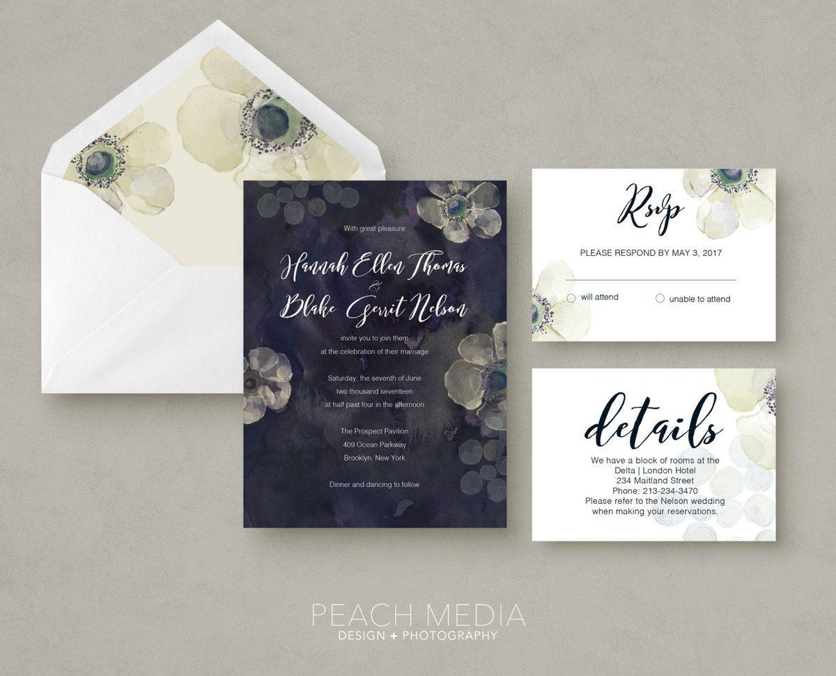 Wedding Invitations u2013 via Peach Media on