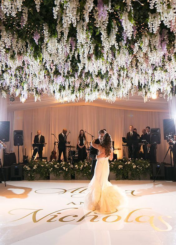 Floral Canopy - Photo by Victor Sizemore Photography - via modweddings.com