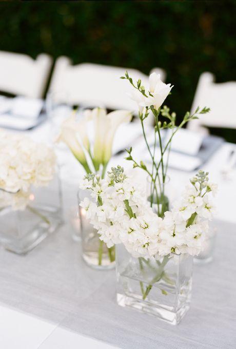 Minimalist Floral Centerpiece - via brides.com
