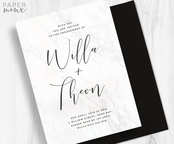 Modern Wedding Invitation by Paper Minx on Etsy.com