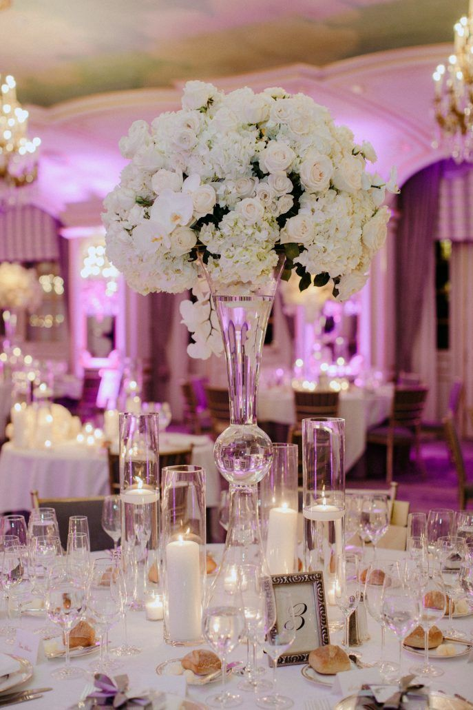 Jessica & Bernard Wedding - High Centerpiece - St. Regis - By Samm Blake